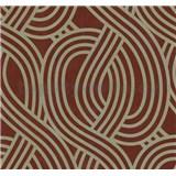 Vliesové tapety na stenu Carat moderný vzor zlatý na červenom podklade