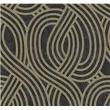 Vliesové tapety na stenu Carat moderný vzor bronzový na čiernom podklade