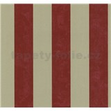 Vliesové tapety na stenu Carat pruhy červeno-zlaté - POSLEDNÉ KUSY
