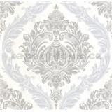 Vliesové tapety na stenu CARAT ornamentálny vzor sivo strieborný s trblietkami