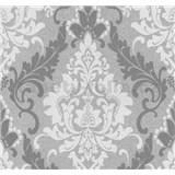 Vliesové tapety na stenu Casual Chic zámocký vzor tmavo sivý