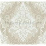 Vliesové tapety na stenu Casual Chic zámocký vzor hnedý - POSLEDNÉ KUSY