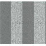 Vliesové tapety na stenu Casual Chic pruhy tmavo sivé