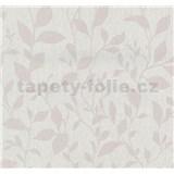 Vliesové tapety na stenu Casual Chic lístočky ružové