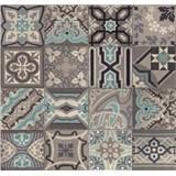 Dekoratívny obklad na stenu Ceramics Simenta sivá-modrá šírka 67,5 cm x 20 m