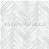 Dekoratívny obklad na stenu Ceramics Chevron obklad sivý šírka 67,5 cm x 20 m