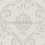 Vliesové tapety na stenu Classico zámocký vzor svetlo hnedý