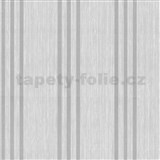 Vliesové tapety na stenu Classico pruhy strieborné na svetle sivom podklade