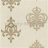 Vliesové tapety na stenu Classico ornament okrový so zlatým leskom