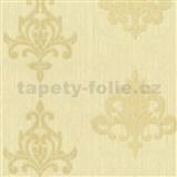Vliesové tapety na stenu Classico ornament béžový so zlatým leskom