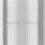 Vliesové tapety na stenu Classico pruhy žíhané sivé so strieborným leskom