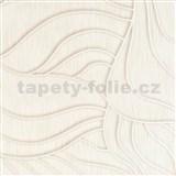 Vliesové tapety na stenu Colani Visions abstraktné listy biele s perleťovou kontúrou