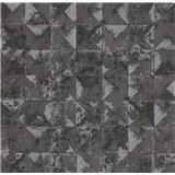 Vliesové tapety na stenu Collage 3D obklad čierno-strieborný