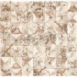 Vliesové tapety na stenu Collage 3D hnedé štvorce s patinou - POSLEDNÉ KUSY
