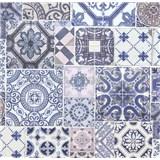 Vliesové tapety na stenu Collage obklad Barcelona modro-fialový