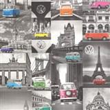 Vliesové tapety na stenu Collage autá Volkswagen - POSLEDNÉ KUSY