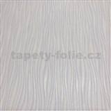 Vliesové tapety na stenu Collection 2 prúžky svislé strieborné, fialkové a biele na bielom podklade