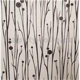 Vliesové tapety na stenu Collection stonky čierne s vysokým leskom