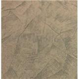 Vliesové tapety na stenu stierkovaná omietka hnedá