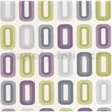 Vinylové tapety na stenu Collection retro oválky fialovo-zelené