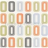 Vinylové tapety na stenu Collection retro oválky oranžové, zelené, modré
