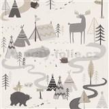 Detské papierové  tapety na stenu IMPOL Collection štylizované zvieratká