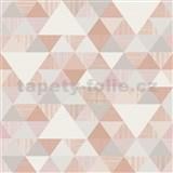 Vliesové tapety na stenu Collection geometrický vzor moderný ružový
