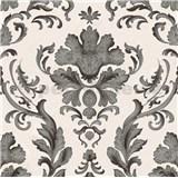 Papierové tapety na stenu Collection 2 zámocký vzor čierny na bielom podklade