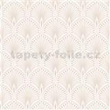 Vliesové tapety na stenu pávie perie zlato-krémové