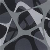 Luxusné vliesové tapety Zaha Hadid 3D design sivo-čierny-fialový