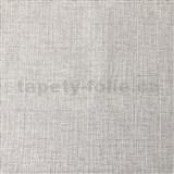 Vliesové tapety na stenu textilný vzor sivý s trblietkami
