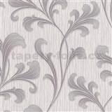 Vliesové tapety na stenu Como - listy fialovo-strieborné