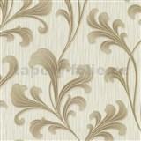 Vliesové tapety na stenu Como - listy hnedo-zlaté