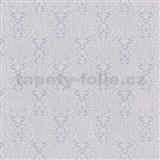 Vliesové tapety na stenu Como - fialovo-strieborné ornamenty na fialovom podklade