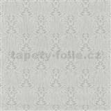 Vliesové tapety na stenu Como - strieborné ornamenty na sivom podklade