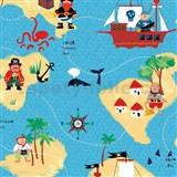 Samolepiace fólie piráti - 45 cm x 15 m
