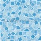 Samolepiace tapety - d-c-fix mozaika modrá 45 cm x 15 m