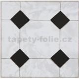 Vinylové samolepiace podlahové štvorce Classic mozaika čiernobiela rozmer 30,5 cm x 30,5 cm