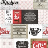 Vinylové tapety do kuchyne IMPOL Decoration moderný patchwork červený