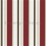 Tapety na stenu Delight - červené pruhy - ZĽAVA