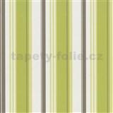 Tapety na stenu Delight - zelené pruhy