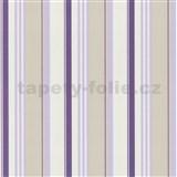 Tapety na stenu Delight - fialové pruhy
