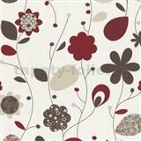 Tapety na stenu Delight - červené design kvety