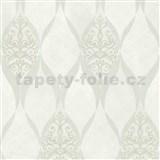 Luxusné vliesové tapety na stenu G.M.Kretschmer Deluxe kašmírový vzor biely