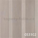 Tapety na stenu La Veneziana - pruhy striebornej s metalickým efektom
