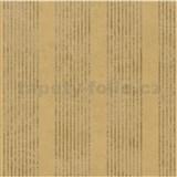 Tapety na stenu La Veneziana - pruhy zlatohnedej s metalickým efektom