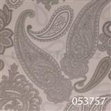 Tapety na stenu Ginas - kašmírový vzor strieborný s metalickým leskom