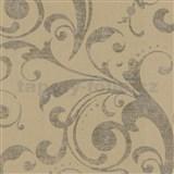 Tapety na stenu La Veneziana - barokový vzor okrový