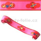 Detské bordúry Die Maus myšky červeno-ružové