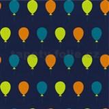 Tapety na stenu Die Maus farebné balóniky na modrom podklade